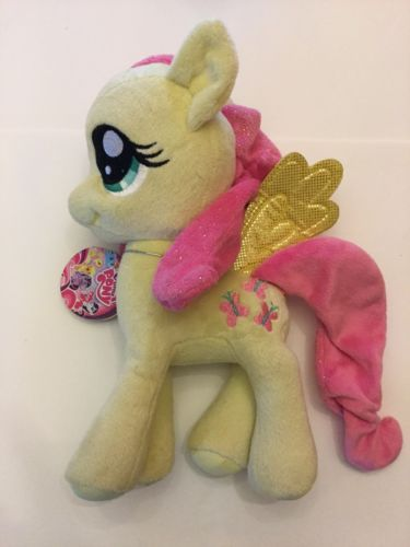 NWT My Little Pony FLUTTERSHY wings pink mane and tail 10 inches Aurora