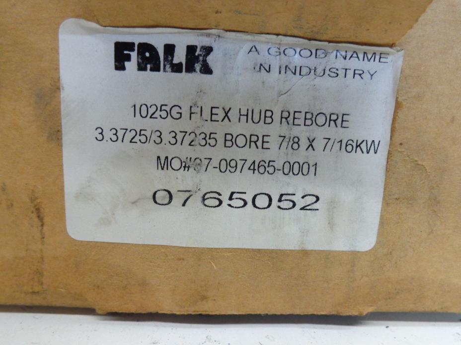 FALK FLEX HUB REBORE 1025G 3.3725 / 3.372535 BORE 7/8