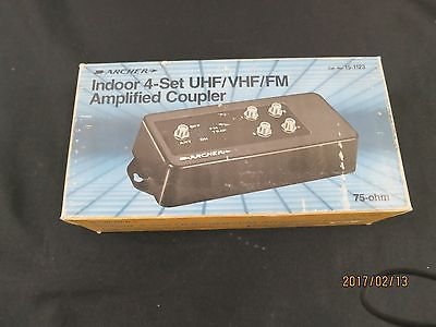 ARCHER INDOOR 4-SET UHF/VHF/FM COUPLER - 75 OHM MODEL 15-1123