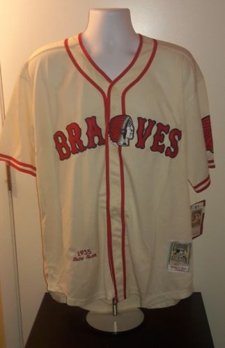 Babe Ruth Boston Braves 1935 Mitchell and Ness Retro Jersey L