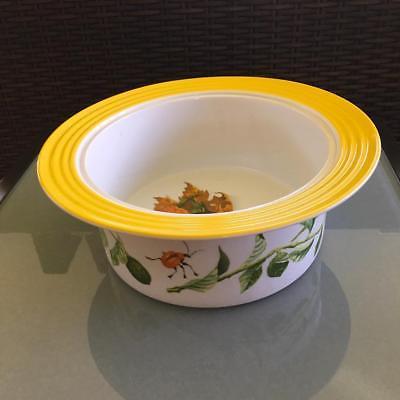 LG Porsgrund Norwegian Dinnerware Serving Bowl from Norway Citron pattern Finne