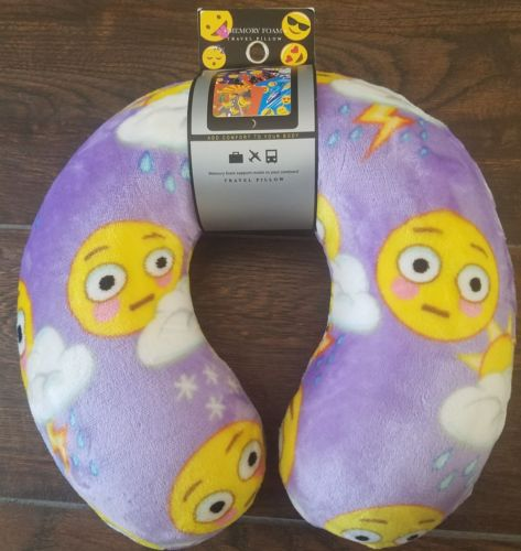 Emoji Memory Form Travel Pillow