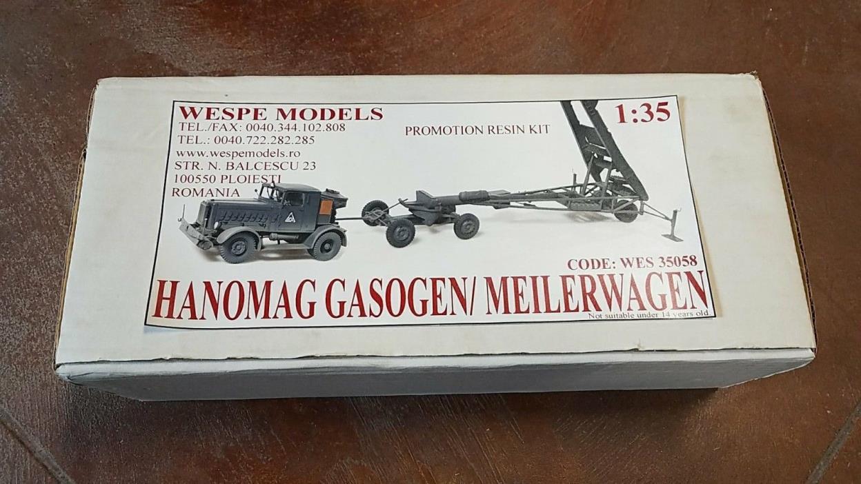 1:35 Hanomag Gasogen/ Meilerwagen - resin kit Wespe Models WES 35058