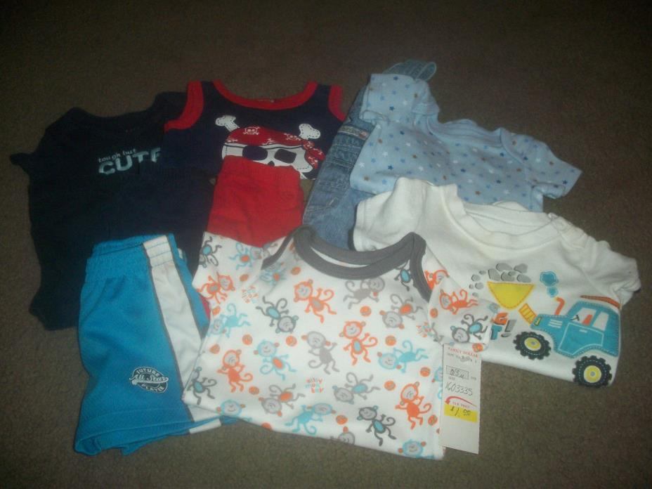 Lot O Boy Clothes size 0-3mo