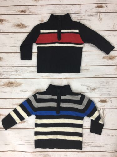 Boys X Label 1/4 Zip Derby Sweater Baby/Toddler Size 12 Months Lot Of 2