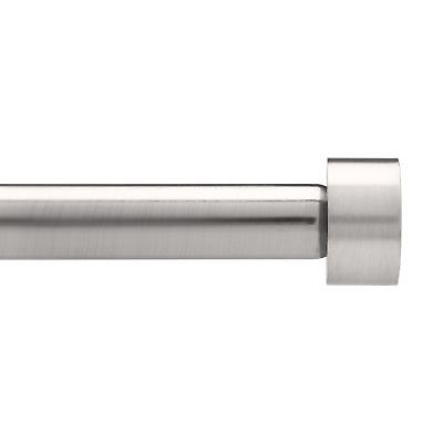 Umbra Cappa Brushed Nickel Curtain Rod – Modern Extra Long Curtain Rod Extend...
