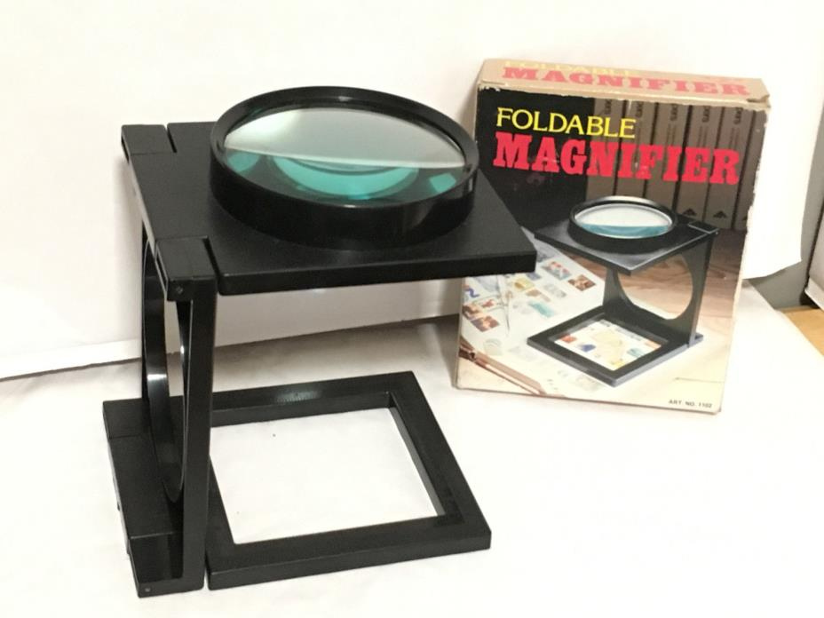 Vintage Eagle Brand Plastic Foldable Magnifier ART. No. 1102 FREE SHIPPING