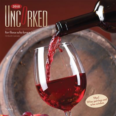 2018 Uncorked Wine Plato Wall Calendar,  Wine, Beer & Spirits by BrownTrout