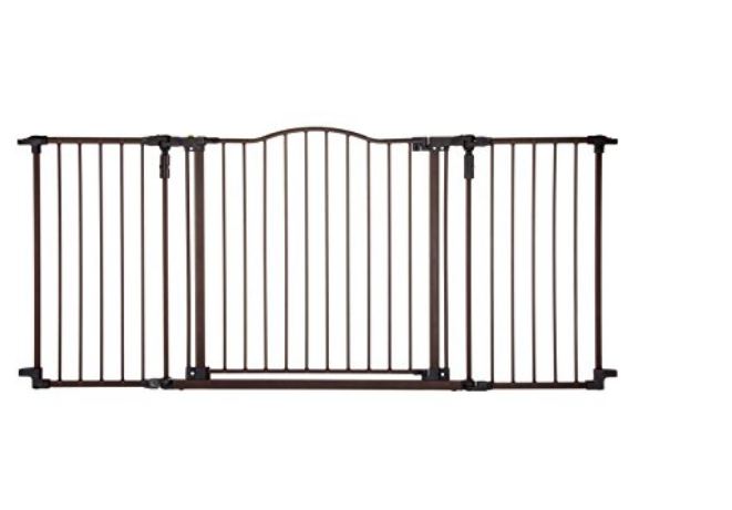 OpenBox North States Supergate Deluxe Décor Metal Gate, Matte Bronze