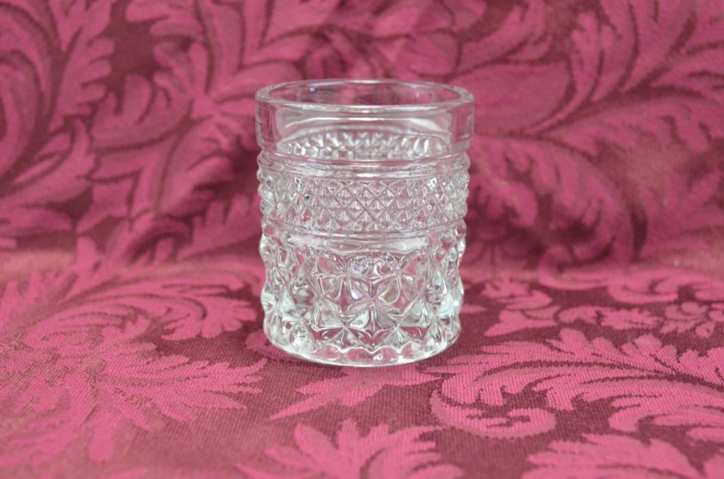 Anchor Hocking Wexford Votive Candle Holder Toothpick Holder Shot Glass VTG