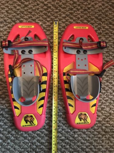 Little bear youth snowshoes red & yellow, 14