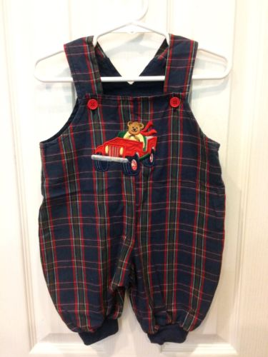 Baby Boy Outfit Plaid Teddy Bear Appliqué Longall 3-6 Months Infant Holiday