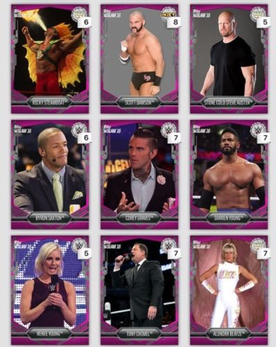Topps DIGITAL 9 Pink Cards 733-735cc Steamboat-Blayze WWE Slam Card 2016