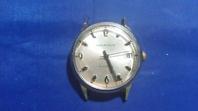 Vintage Caravelle 17 jewels Automatic Men's Watch for parts