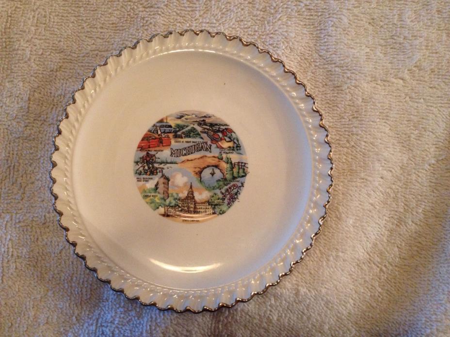 Vintage Souvenir Collector Plate Memorabilia  Michigan 5