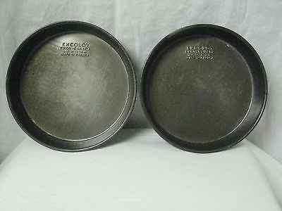 Vintage Ekcoloy~ 8 1/2 inch~ Round Bake Pans, Set Of 2. Non-stick. Heavy CANADA