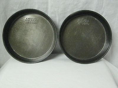 Vintage Ekcoloy~ 8 1/2 inch~ Round Bake Pans, Set Of 2. Non-stick. Heavy CANADA