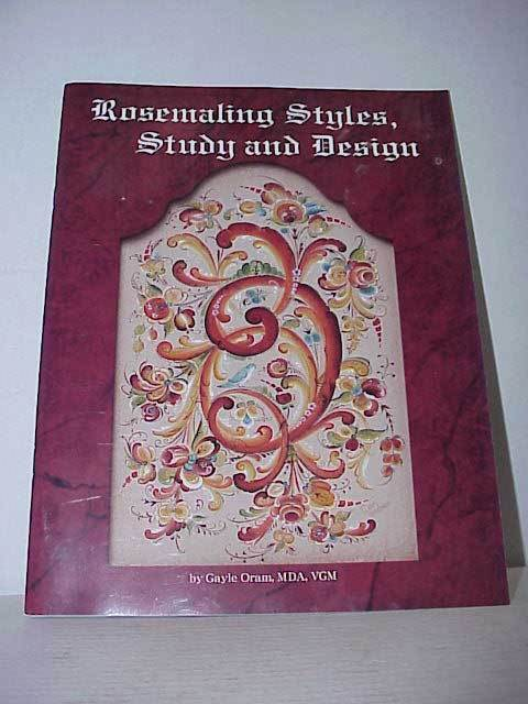 Rosemaling Styles Study and Design Book Gayle Oram Free Shipping
