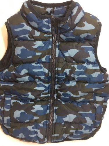Boys Vest Size 2T-3T Gymboree Camouflage Hunting Fishing Hunt Fish (B7) Camping