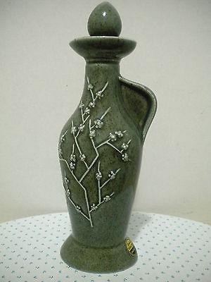 Vintage Jim Beam 1965 Handcrafted Regal China Bottle Raised Lotus Flower Design
