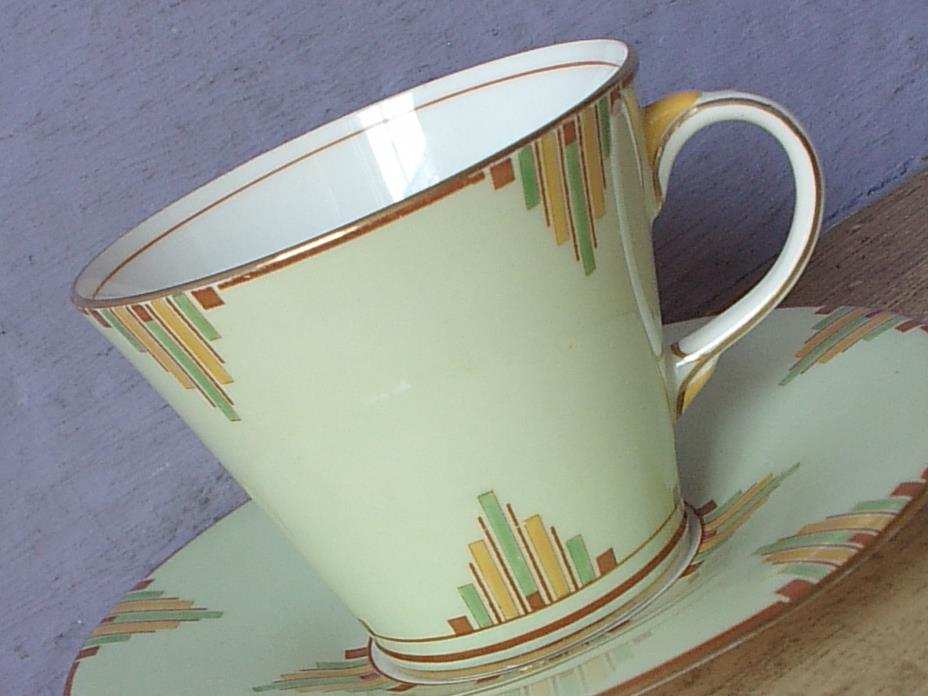 Antique 1930's Aynsley England Art Deco Bone china tea cup teacup