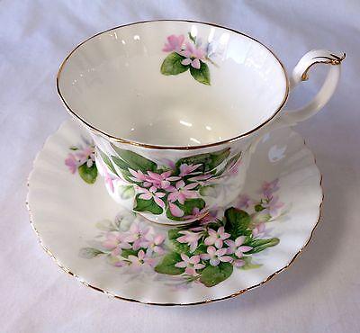 Vintage ROYAL ALBERT Bone China England MAYFLOWER Pattern Cup & Saucer