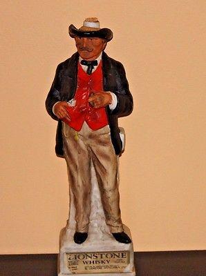 Lionstone Gentleman Gambler Whiskey Decanter 1968 Bar Man Cave
