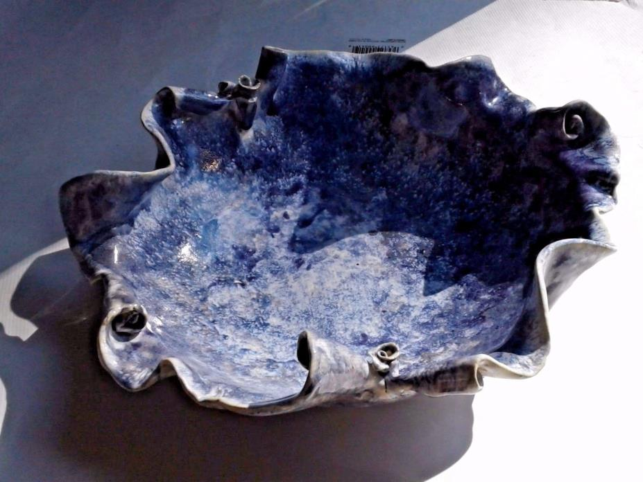 Pottery Art Fruit Holder-Blue