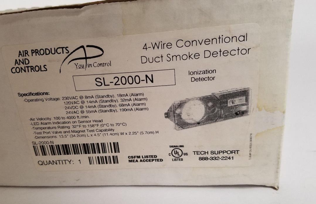 SL-2000-N Air Products And Controls Conventional Duct Smoke Detector NEW