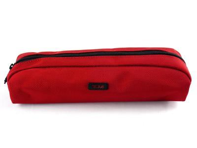 Red TUMI Accent Accessory Pouch / Cord Case / Makeup Bag / Pen/Pencil Pouch