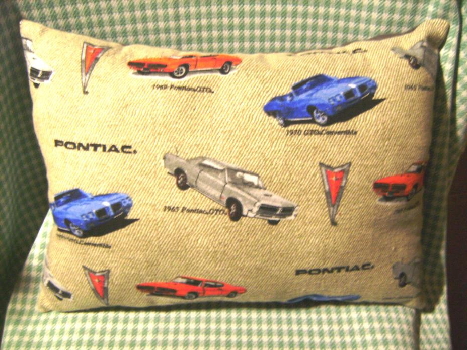 Handmade Flannel Car Fabric Complete Pillow_Pontiac 1965-1970 Muscle Cars