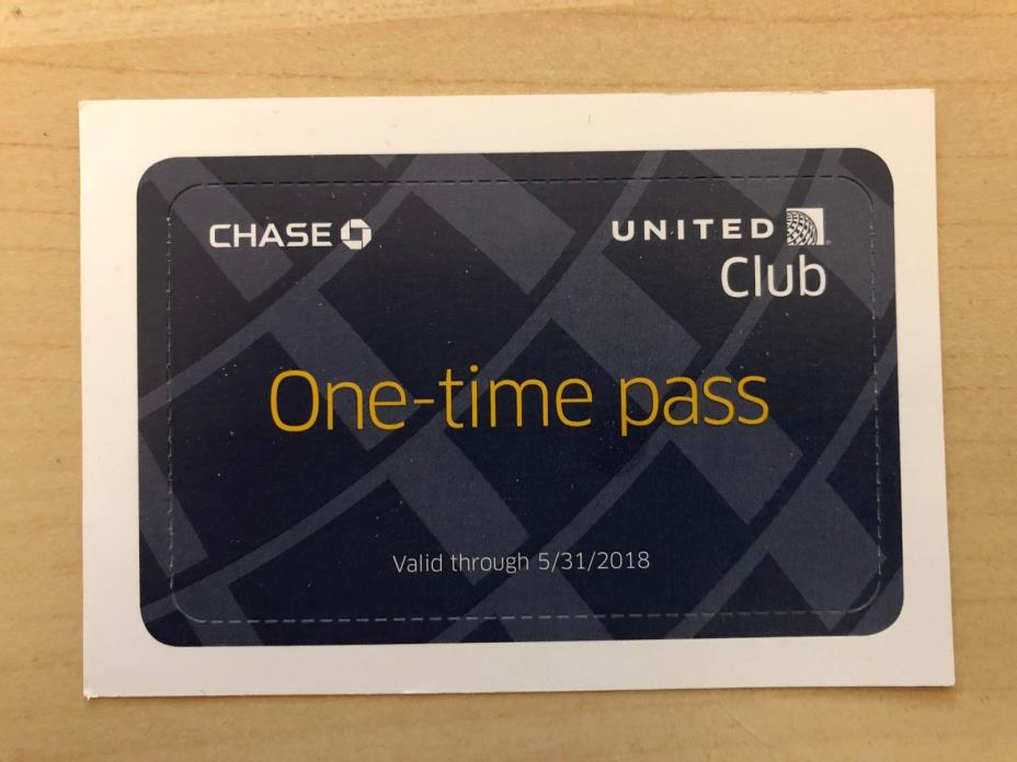 (1) UNITED CLUB PASS (Valid through 5/31/2018) - Fast, free shipping