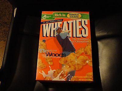 TIGER WOODS EMPTY WHEATIES BOX--2013