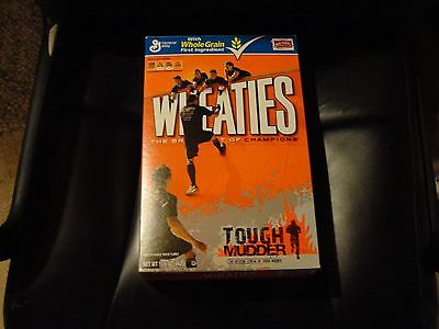 TOUGH MUDDER EMPTY WHEATIES BOX---2013