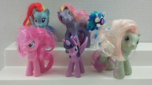 6pc My Little Pony Ponies Authentic Figures 3-4