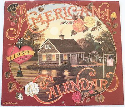 1990 Americana Charles Wysocki Calendar Art Prints