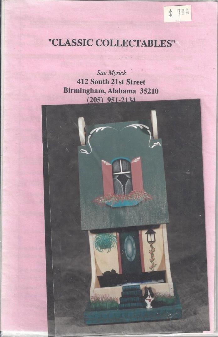 Sweet House   Tole Painting Packet by Sue Myrick
