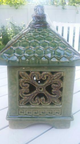 Chinese Green ceramic house