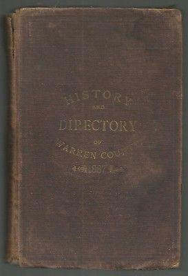 NEW JERSEY - 1886 WEAVER & KERN WARREN COUNTY HISTORY & DIRECTORY
