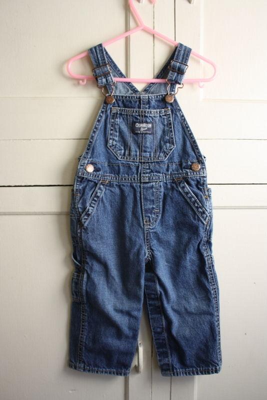 Osh Kosh Overalls Bibs Size 18 M Month Blue Boys Jeans