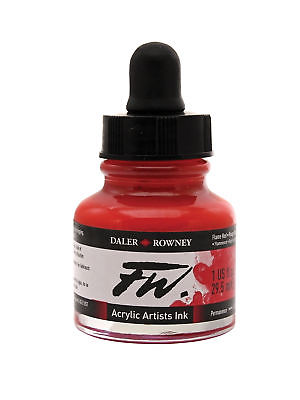 DALER-ROWNEY 160029517 FW FW LIQUID ARTISTS' ACRYLIC INK 1 OZ. FLAME RED