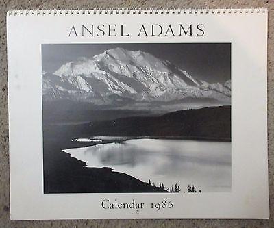 Ansel Adams 1986 Calendar NY Graphic Society