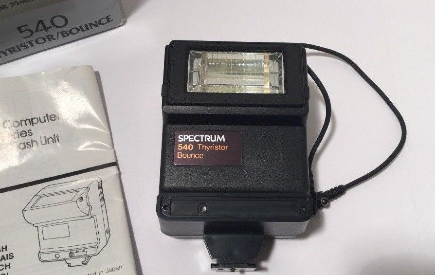 Spectrum Thyristor Bounce 35 MM Flash Black SLR Film 540 Vintage