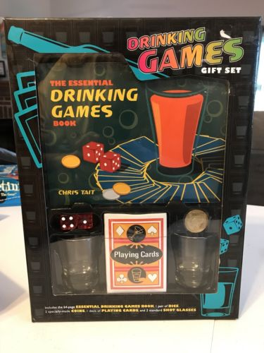 Drinking Games Gift Set The Essential Drinking Games Book NIB