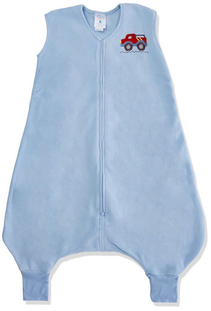 HALO Big Kids SleepSack Micro Fleece Wearable Blanket, Blue, 2-3T, OPEN PACAKGE