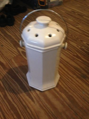 Vintage White Pottery Composter
