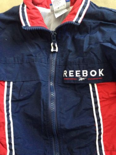 REEBOK Toddler Boy Jacket 12 months Zip-up Navy Red windbreaker SHIP FREE Coat
