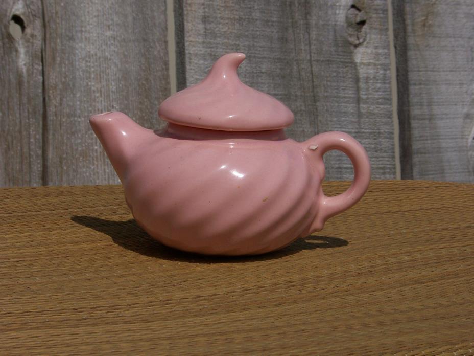 Midcentury PINK ICE CREAM SWIRL DOLLOP TOP Teapot Vintage California USA Pottery