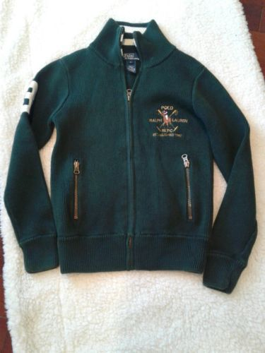 Ralph Lauren Full-Zip Boys Sweater Jacket Youth Size Small Used