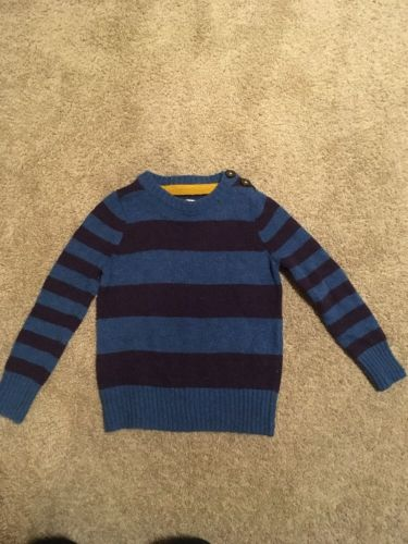 Toddler Boys Mini Boden Striped Wool Sweater Size 2-3 Years